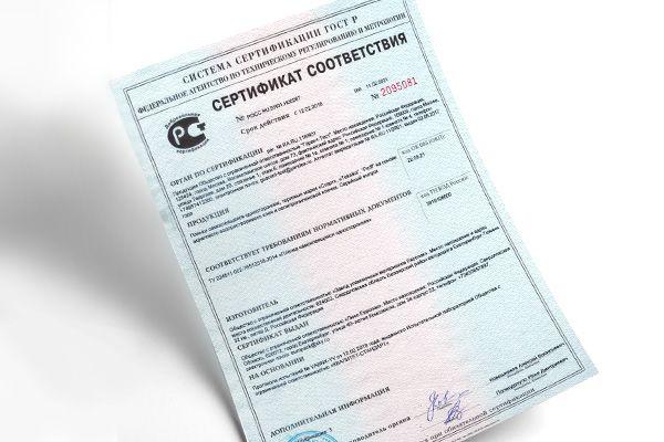 Сертификаты качества на акриловый камень и кварцевый агломерат