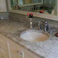 Мраморные столешницы для ванной - фото