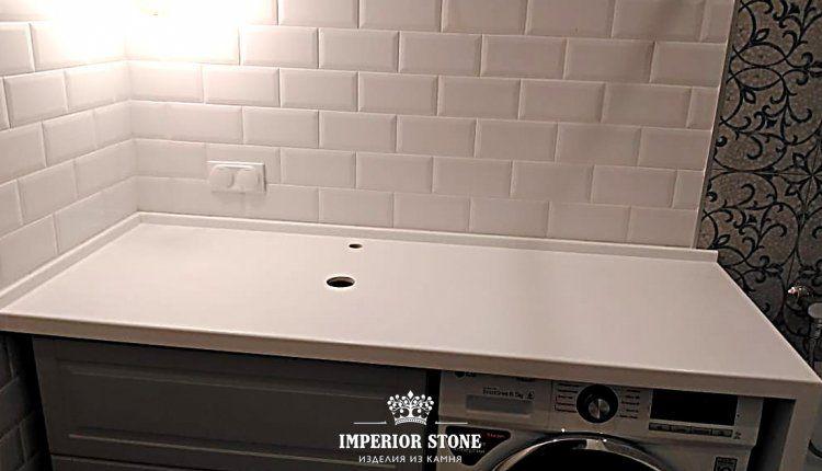 Столешница для ванной из искусственного камня - фото