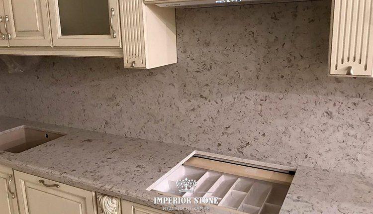 Искусственный камень: столешница на кухню Avant Quartz 9017 Бургундия Burgundy - фото