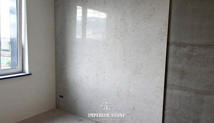 Стеновые панели из кварцевого агломерата Caesarstone 6131 Bianco Drift - фото