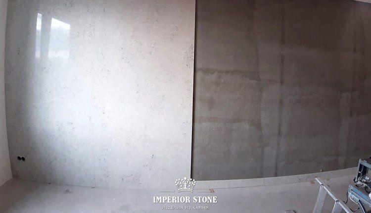 Отделка стен под мрамор - фото