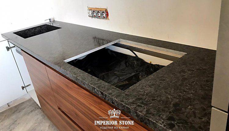 Искусственный камень Vicostone Titanium Brown BQ9360 - фото