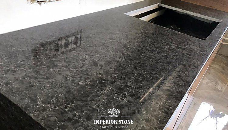 Темная кухонная столешница Vicostone Titanium Brown BQ9360 - фото