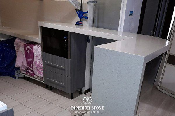 Столешница из искусственного камня LG Hi-Macs G138 Earl Grey коллекция Granite - фото