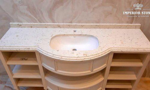 Кварцевая столешница для ванной Avant Quartz 9023 Лотарингия- фото