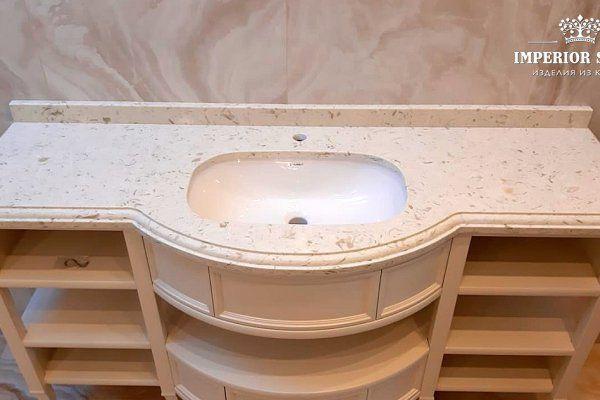 Кварцевая столешница для ванной Avant Quartz 9023 Лотарингия - фото