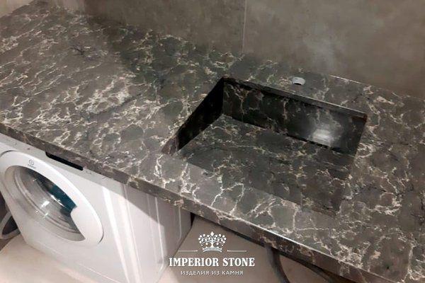 Столешница из искусственного камня в ванну Caesarstone 6003 Coastal Grey - фото