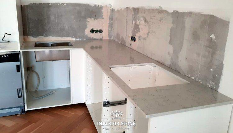 Столешница из искусственного камня TechniStone Carrara Noble Collection - фото