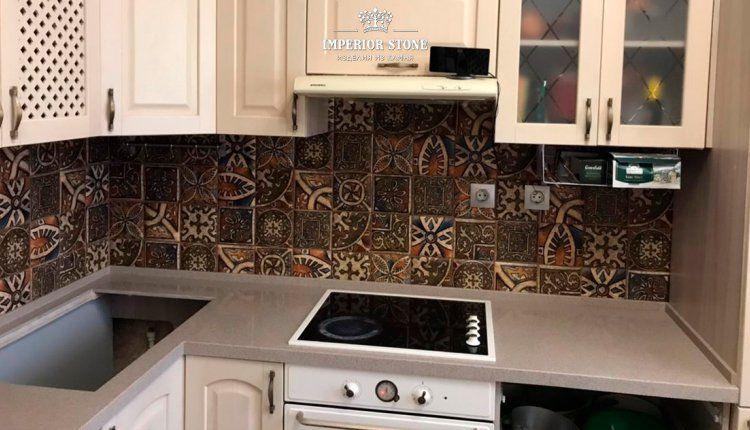 Столешница из искусственного камня Grandex D-303 Raisined Chocolate Deliscious Edition - фото
