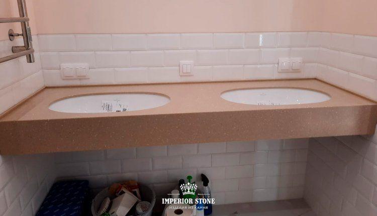 Столешница из акрилового камня в ванну LG Hi-Macs - фото