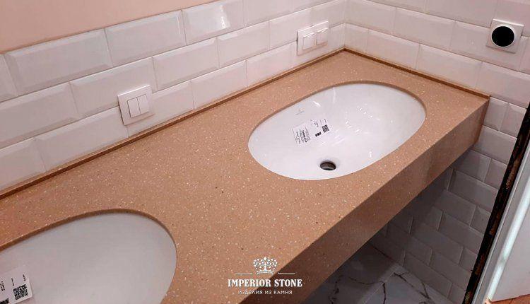 Акриловая столешница для ванной LG Hi-Macs - фото