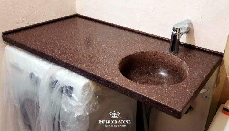 Столешница из искусственного камня в ванну LG Hi-Macs G063 Allspice Quartz - фото