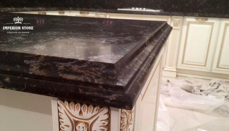 Кухонная кварцевая столешница - фото