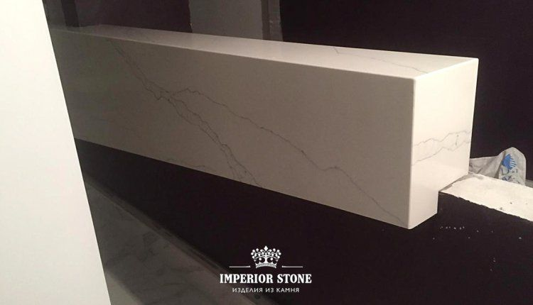 Стойка ресепшн из искусственного камня Avant Quartz 7000 Калакатта Эно - фото