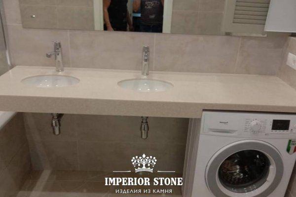 Столешница в ванную LG Hi-Macs G046 Marron Quartz - фото