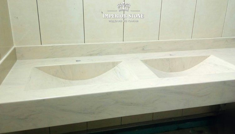 Столешница из акрилового камня - фото