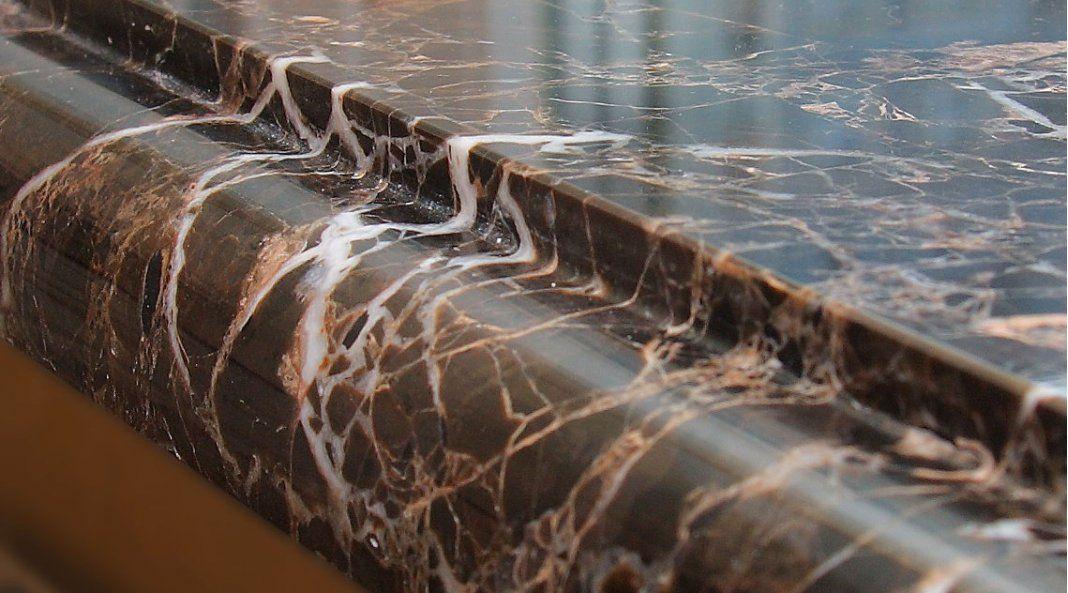 Кромка столешницы из кварцевого агломерата Caesarstone 5380 Emperadoro