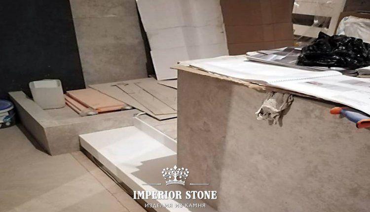Ступени из искусственного камня DuPont Corian Designer White - фото