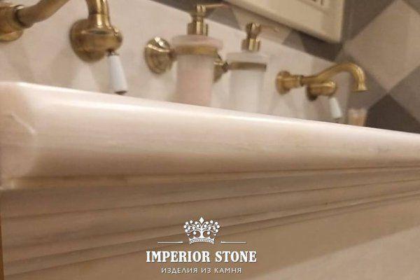 Столешница в ванну из акрила Grandex M-707 Noble Pearl коллекции Marble Ocean