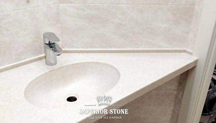 Столешница в ванную Staron  - фото