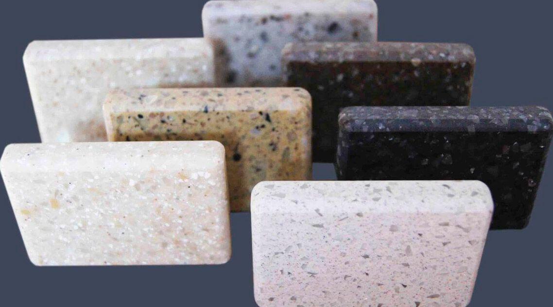 Большое разнообразие оттенков искусственного камня