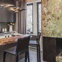 Кухонная мебель из камня - фото