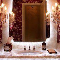 Мебель для ванной из камня - фото
