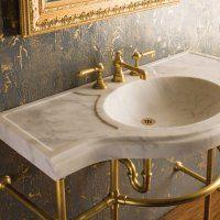 Раковина из мрамора для ванной - фото