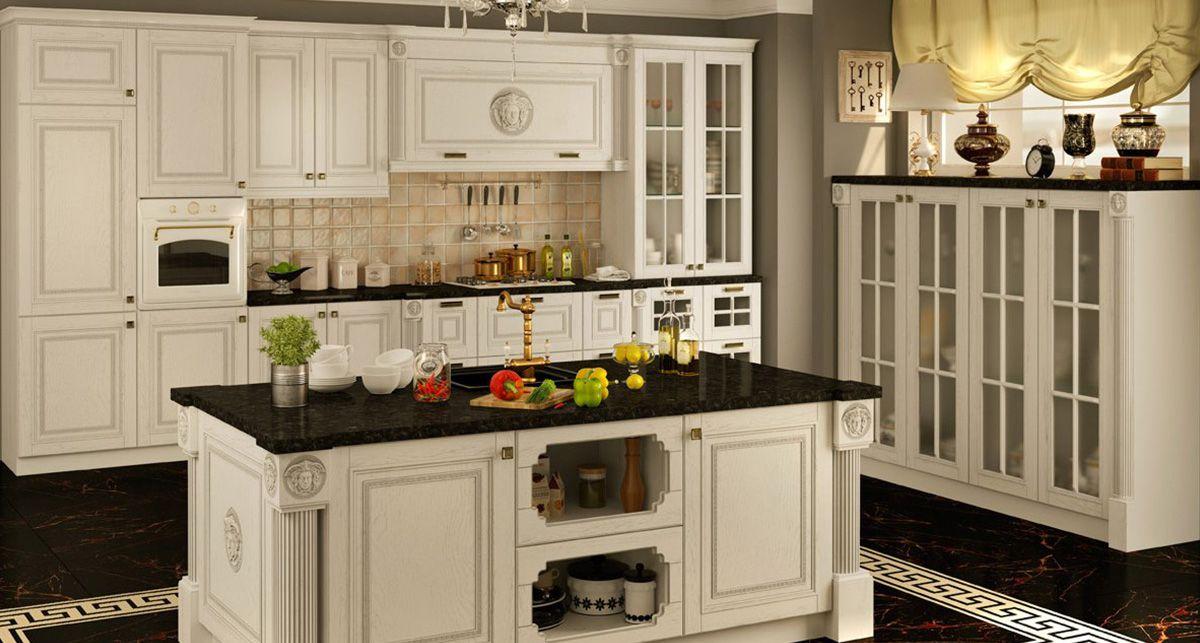 Кухонный остров с черной столешницей Tristone