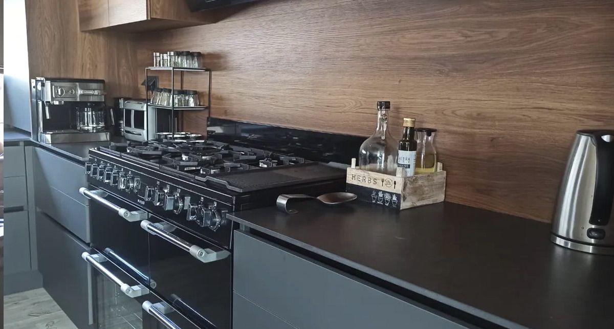 Серая столешница на кухню Dekton Eter collection Natural