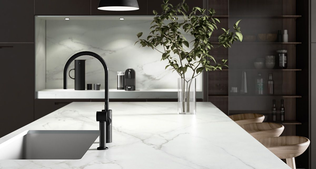 Столешница под мрамор Dekton Rem collection Natural