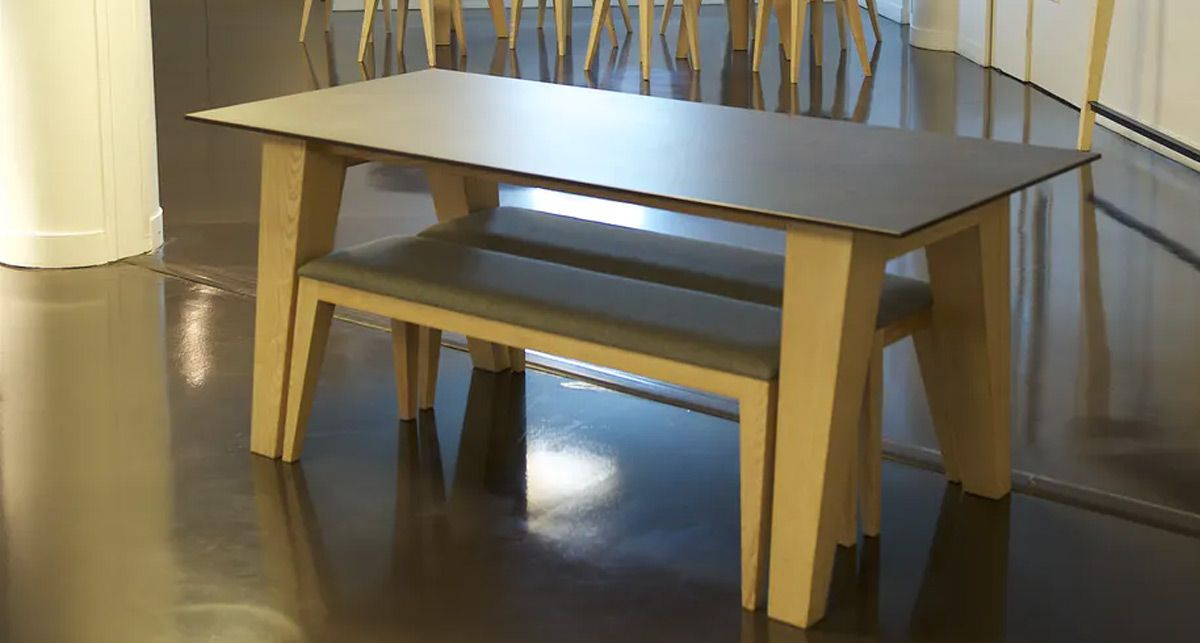 Стол со скамьей Dekton Milar collection Industrial