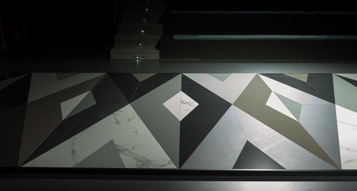 Отделка пола керамикой Dekton Splendor collection Solid Xgloss
