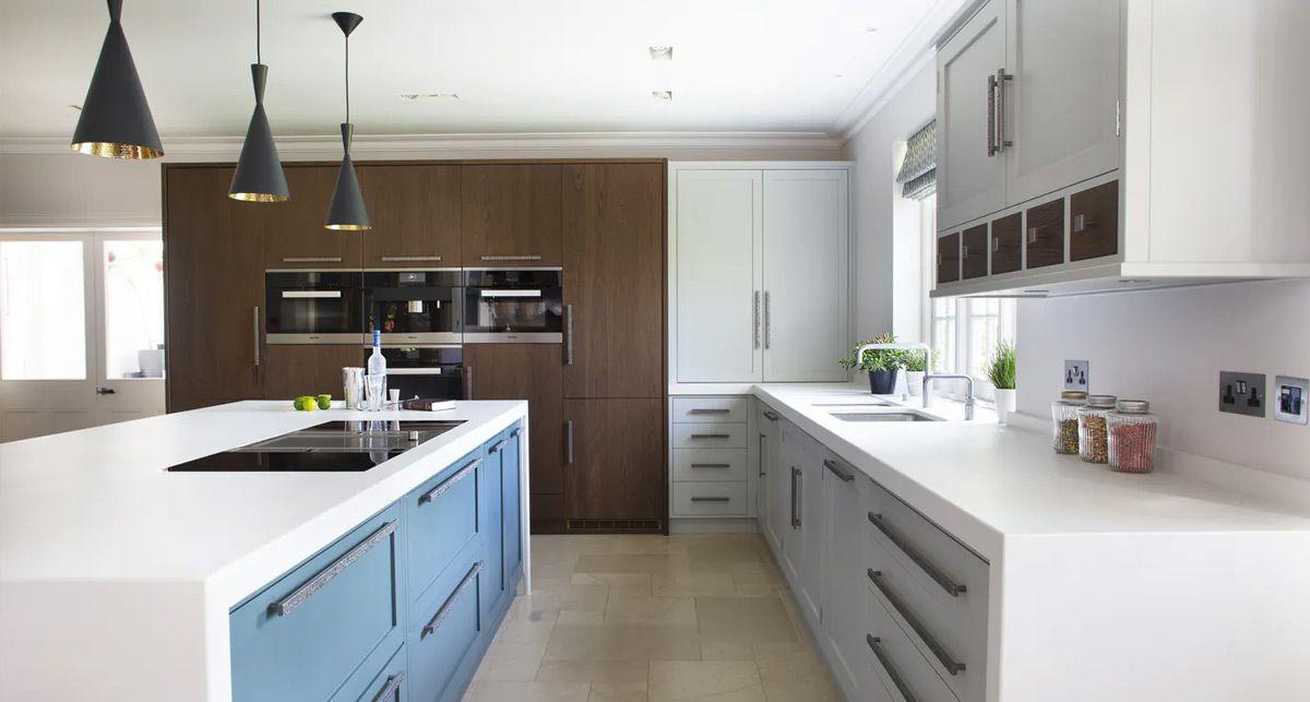 Белая кухонная столешница Dekton Zenith collection Solid
