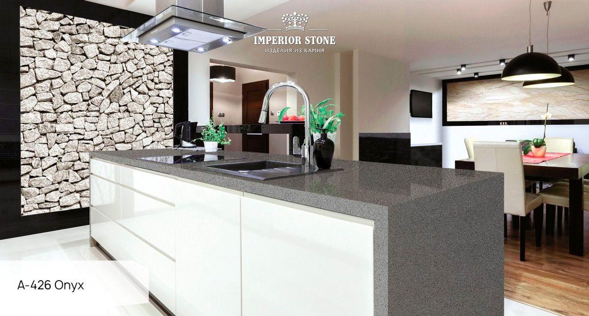 Кухонный остров из акрила Grandex A-426 Onyx gravel Adventure
