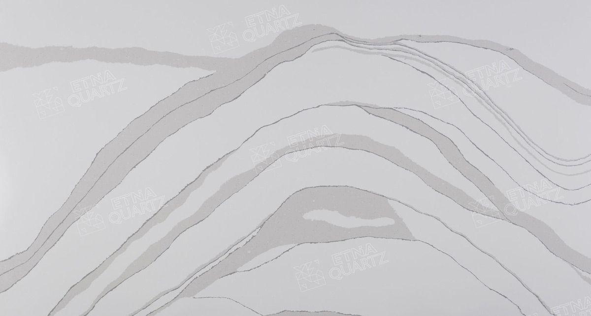 Фактура кварцевого агломерата Etna Quartz Statuario Apuano EQPM 021