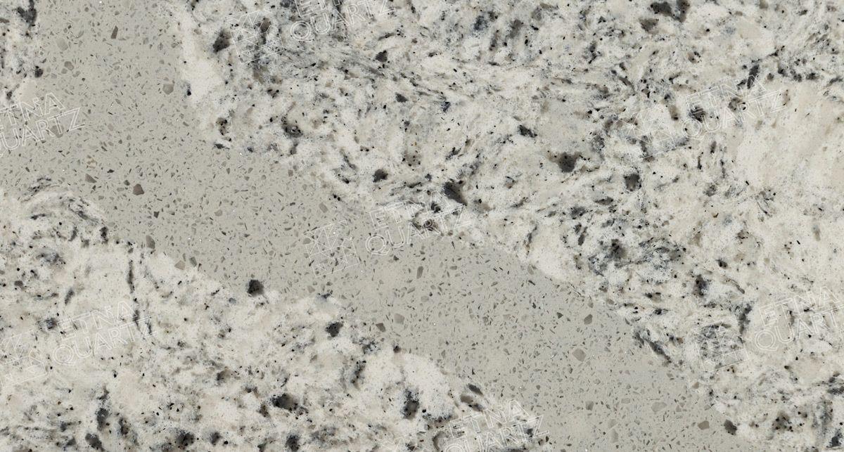 Фактура кварцевого агломерата Etna Quartz Bianco Antico EQPG 022