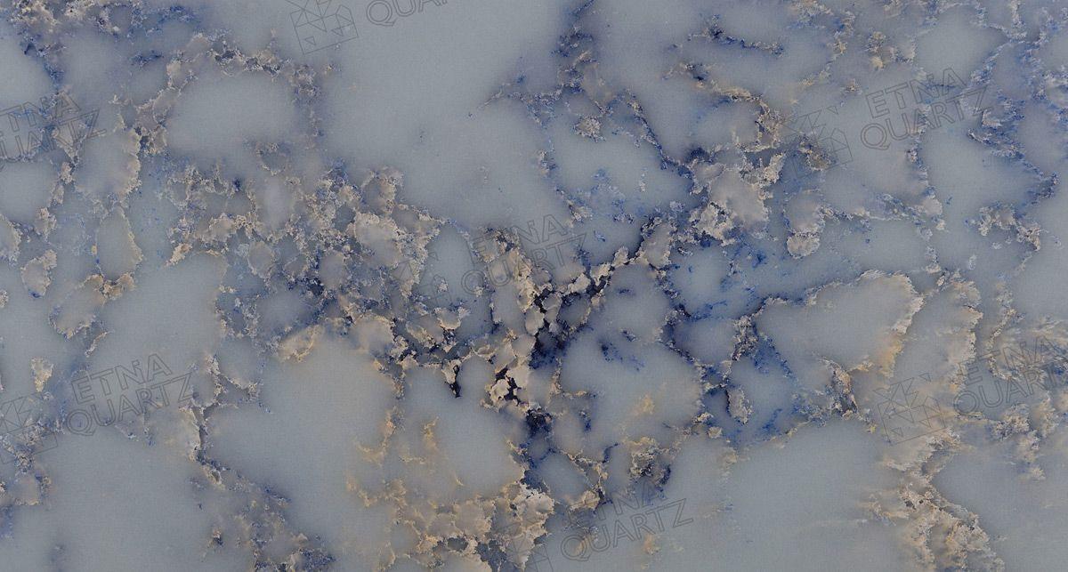 Фактура кварцевого агломерата Etna Quartz Azul Imperiale EQPM 025