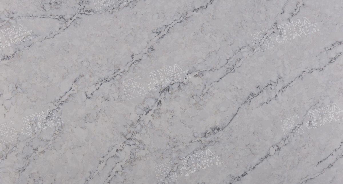 Искусственный камень под мрамор Etna Quartz Delicato White EQTM 010