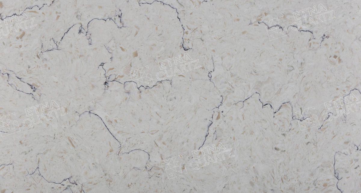 Искусственный камень под мрамор Etna Quartz Bianco Romano EQTG 011