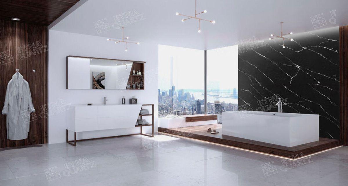 Стеновая панель Etna Quartz Grey Marquina EQHM 007