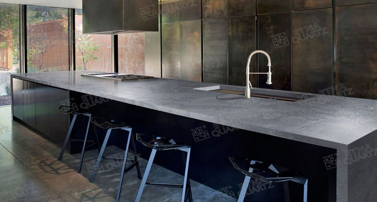 Столешница для кухни Etna Quartz Sesame Grey EQHG 004