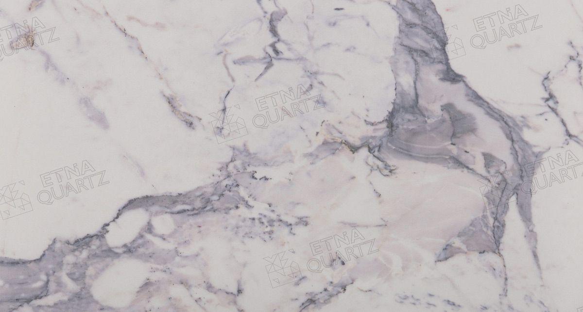 Искусственный камень под мрамор Etna Quartz Super White EQTM 019