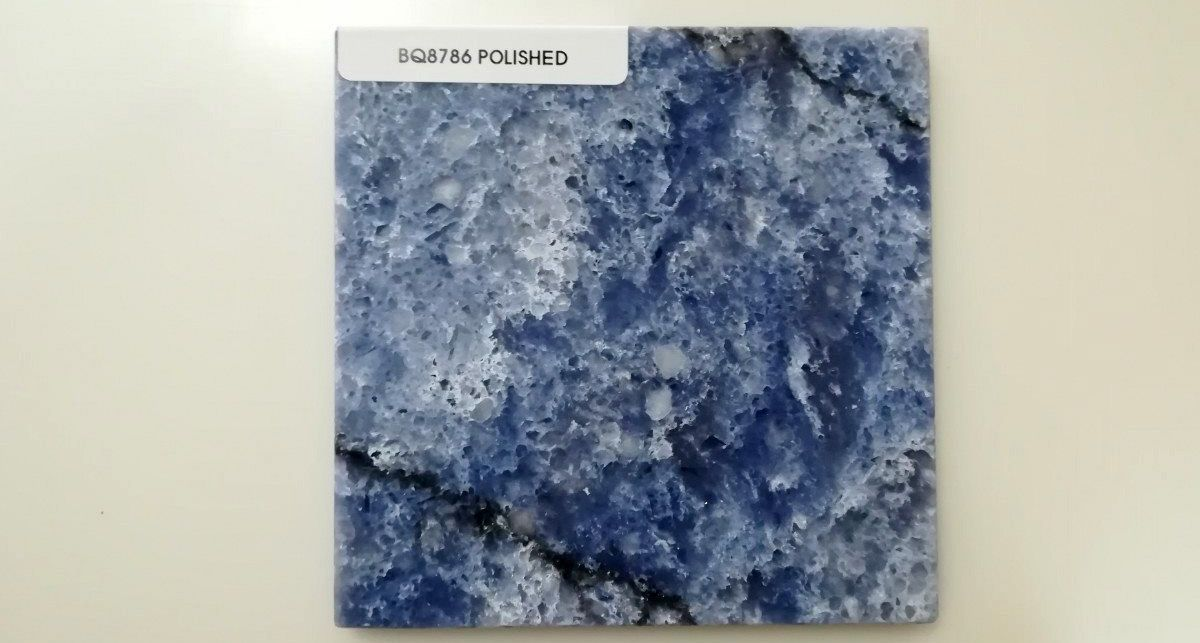 Образец кварца Vicostone Thunder Blue
