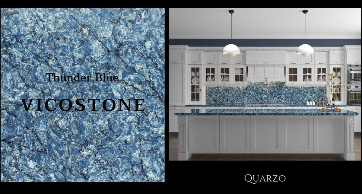Vicostone Thunder Blue кухонная столешница