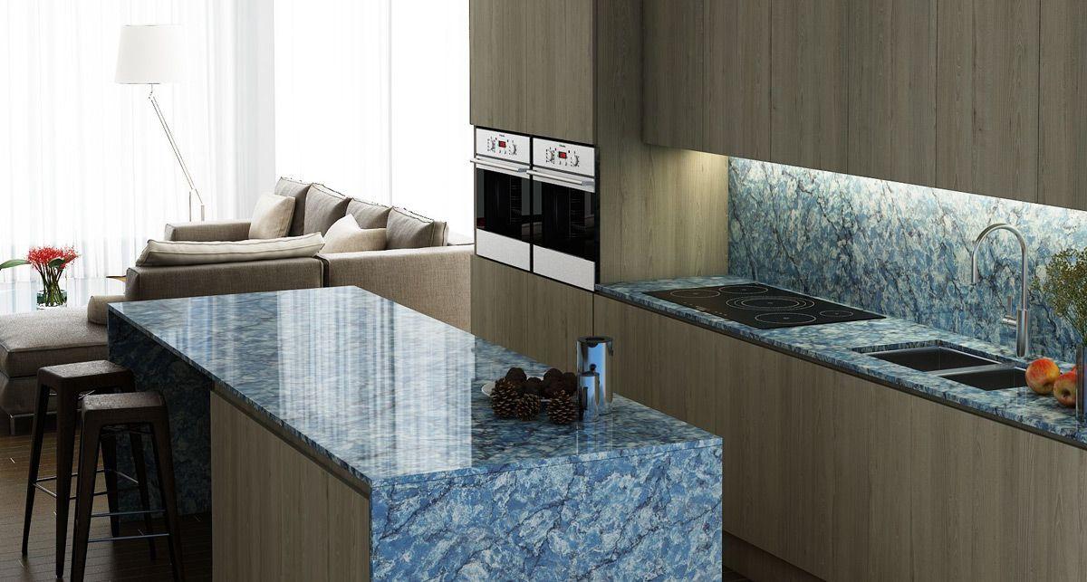 Кухонная столешница Vicostone Thunder Blue