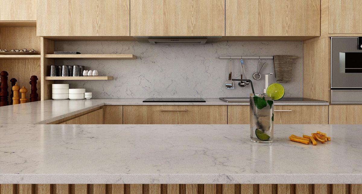 Vicostone Valley White кухонная столешница