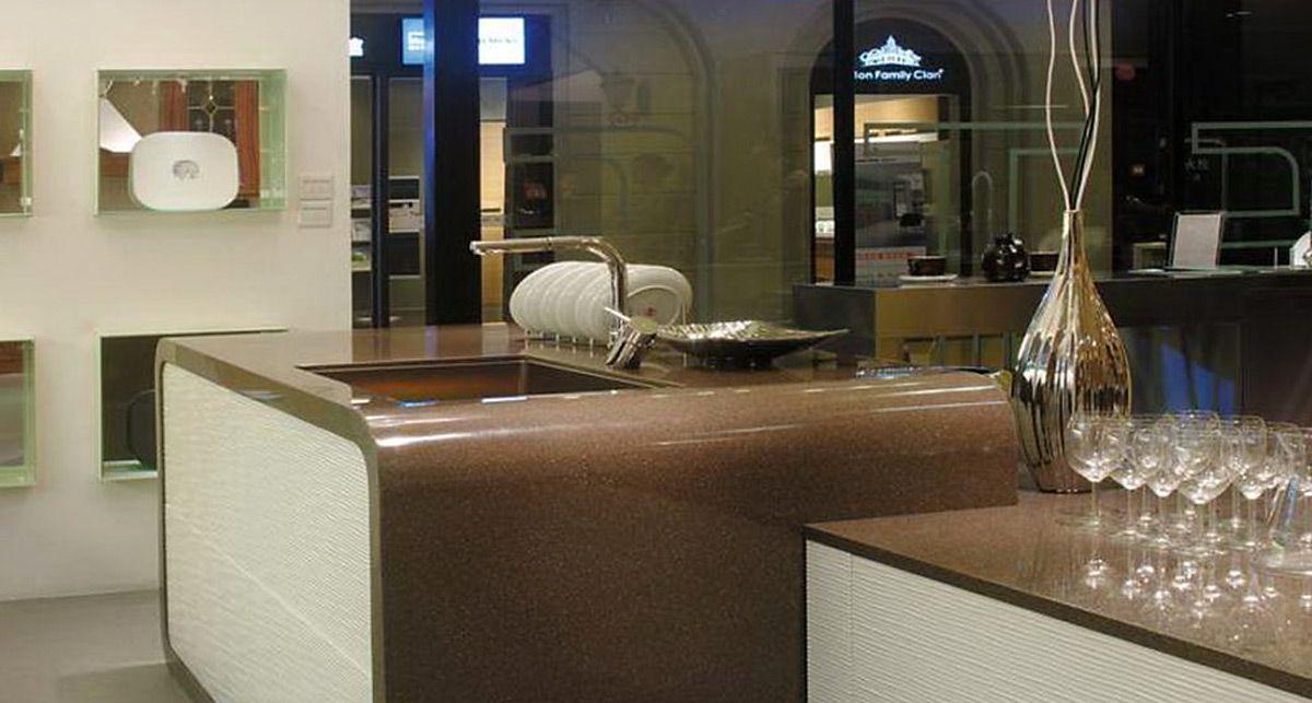 Столешница из акрилового камня Tristone A-111 Espresso коллекции Modern
