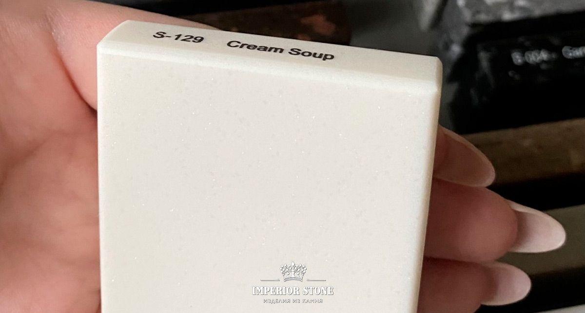 Образец акрилового камня Tristone S-129 Cream Soup Classical